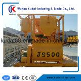 De elektrische Dubbele Concrete Mixer Js500 van de As