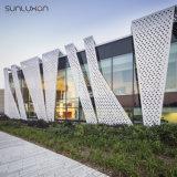 Le métal décoratif en aluminium de panneaux de mur lambrisse l'écran d'art