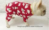 사랑스러운 애완 동물 잠옷 100%년 면 잠옷 작은 개 셔츠 연약한 복장 애완 동물 외투 의복