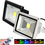 RGB LEDの洪水ライト10With20W庭の照明は、LEDの洪水のLighs AC85-265Vの屋外の照明防水する