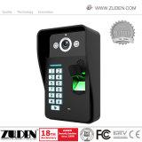 Color caliente Video Portero con desbloqueo de la tarjeta RFID