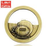 Médaille intérieure antique personnalisée de récompense en métal de sport de bâti de trou du modèle 3D grande pour la promotion d'utilisation de souvenir