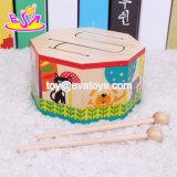 Tambor de madera del bebé de los nuevos juguetes más calientes de la banda fijado con la música W07j041