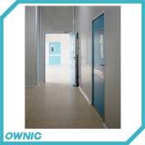 Porte a battenti di rossoreare del metallo della stanza pulita con il vetro di visione per alimento o industrie farmaceutiche