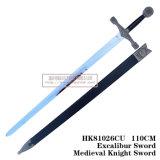 Espadas européias do rei Arthur Espada Medieval Espada 110cm HK81026cu