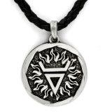 Gift van de Mensen van de Tegenhanger van de Amulet van het Symbool van de Zon van de Halsband van de Amulet van Viking van de fabriek de In het groot Zonne Germaanse Heidense