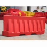 Blanco Rojo Amarillo 2000mmx800mm Jersey de plástico llenas de agua barrera de tráfico