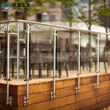 옥외를 위한 단 하나 격판덮개 스테인리스 유리제 방책을 거치하는 벽