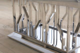 Tableau de marbre d'acier inoxydable de table basse