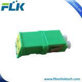 LC APC 자동 셔터를 가진 싱글모드 이중 광섬유 접합기