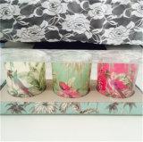 Candela di vetro del vaso stampata decalcomania su ordinazione della maschera nel pacchetto del PVC