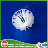 PE van het polypropyleen pp Polyhedral Holle Media van de Filter van de Bal Plastic Bio