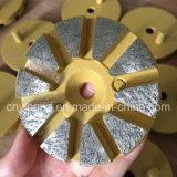 Disco de moedura do diamante da ligação do metal de 3 pinos da polegada 2
