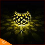 De zonne Aangedreven Tuin van de Bal van het Glas van het Mozaïek steekt het Kleurrijke Veranderende Licht van de Lampen van het Balkon van de Werf Waterdichte Binnen Openlucht aan