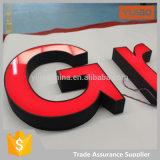 El canal de acrílico por encargo firma muestra luminosa de la carta de la publicidad comercial de 3D LED la mini