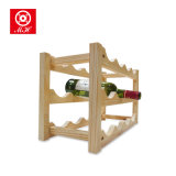 Cremalheira de madeira Stackable superior do vinho da tabela para Deco Home
