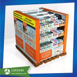 Visualización reciclable de la cartulina del suelo, soporte del estante de visualización del papel acanalado