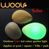 Indicatore luminoso decorativo chiaro solare esterno del cubo della pietra della sfera del LED RGB