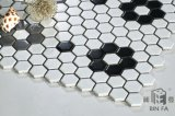 Azulejo de mosaico de cerámica blanco hexagonal del panal caliente de la venta 23*23m m para la decoración
