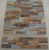 Jaune naturel chinois mosaïque Rusty Pierre de la culture de l'Ardoise pour revêtement mural