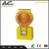 Ter a lâmpada de advertência solar brilhante super da barricada da segurança de estrada do suporte do metal