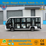 Marca Zhongyi 14 lugares fora da estrada Carro de Transporte Eléctrico Fechado com certificado CE