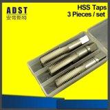Jeu droit de taraud de main de PCS HSS de la cannelure 3 de partie lisse