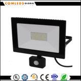 매우 얇은 LED 플러드 빛 창고를 위한 보장 5 년 또는 공장 또는 법원 또는 야드