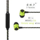 Matériel prix bon marché afin de conception avec micro des écouteurs