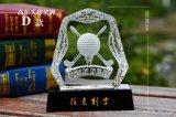 Кристаллический трофей гольфов-клубов K9 награждает основание Wtihe