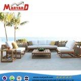 Sofá com estofos de tecido Mobiliário de exterior para o hotel por grosso a mobília do pátio
