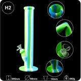 Beispielfreie bunte Ölplattform-Becher-Unterseiten-Huka-rauchendes Glaswasser-Rohr