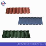 La pierre colorée ébrèche la tuile de toiture enduite en métal pour le matériau de construction