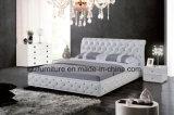 Weißer modularer Headboard heftete sich lederne Speicherung gepolstertes Bett durch