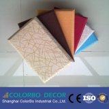 Panneau de mur en bois acoustique de tissu décoratif pour la salle de séjour