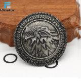 Juego del recuerdo de las divisas rígidas del metal de la solapa del Pin del blindaje de Direwolf de los tronos