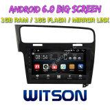 """Witson 10.2 """" Grote Androïde 6.0 Auto van het Scherm DVD voor Golf 7 van Volkswagen (ZWART FRAME)"""