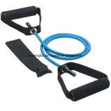 Faixa de Resistência de Látex de 4 pés puxe a corda elástica do tubo de exercer a ioga