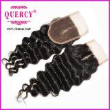아기 머리 사람의 모발 (CL-85D)를 가진 고품질 그리고 최신 판매 레이스 마감 깊은 파 9A 페루 Virgin 머리