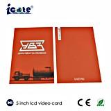 가격 5 인치 LCD 영상 Brochure/LCD 영상 인사장 /Business 싼 비디오 카드