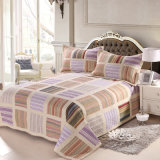Prewashed 주문을 받아서 만들어진 Durable Comfy Bedding Quilted 3 피스 Bedspread Coverlet Set Grid