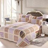 Настраиваемые Prewashed прочного удобные кровати стеганая 3-х покрывалами Coverlet Установить Grid