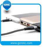 Superventas de nylon trenzado de cobre de 1m cable de datos USB para el iPhone