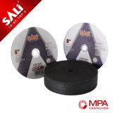 La marca di Sali lavora il disco di taglio di Inox dell'ossido di alluminio