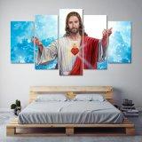 Corazón sagrado de la impresión del arte de la pared de la lona del PCS de la impresión 5 de la pintura de la impresión del arte de la lona de la decoración del hogar del arte de la pared de la pintura de Jesús en lona