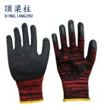 les gants fonctionnants de 13G Polycotton ont enduit du latex de pli