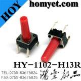La fábrica profesional del interruptor suministra los interruptores táctiles de 6*6*6m m la maneta redonda