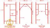 Gietend Ijzer Ringlock Accessoires/de Steiger van het Frame