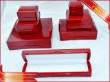 Boîte d'emballage de Red de luxe Bijoux Bijoux en Bois ensemble boîte
