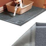 Estera de la alfombra del alimento de la estera de la litera de gato de la fuente del animal doméstico que introduce